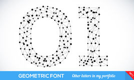 Geometric type font Royalty Free Stock Photos