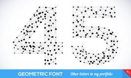 Geometric type font Stock Image