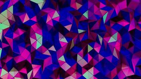 Geometric ultraviolet background. Beautiful triangles pattern waving in an elegant and dynamic way. Vivid blue tone. Nice concept stock video footage