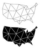 Geometric USA map, vector Stock Photography