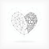 Geometric Valentine's Day Card Royalty Free Stock Image