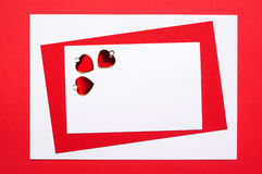 Geometric valentines card Royalty Free Stock Photography