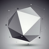 Geometric vector abstract 3D complicated lattice backdrop, singl Stock Photo