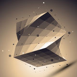 Geometric vector abstract 3D complicated lattice backdrop Royalty Free Stock Photo