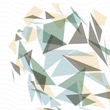 Geometric vector abstract 3D complicated op art backdrop, eps10. Conceptual tech illustration, best for web and graphic design. Transparent covering with Royalty Free Stock Image