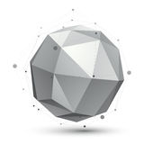 Geometric vector abstract 3D complicated spherical lattice objec Royalty Free Stock Images