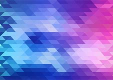 Geometric vector background in blue pink and purple color vector illustration