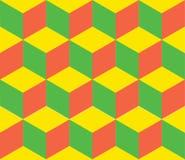 Geometric vector background. Cube shapes. Optical Stock Image