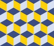 Geometric vector background. Cube shapes. Optical Stock Photo