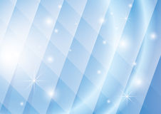 Geometric vector background with lights and stars Stock Image