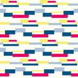 Geometric vector block stripe pattern. Stock Images