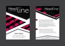 Geometric Vector Brochure Flyer Layout Template in A4 size Royalty Free Stock Photos