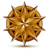 Geometric vector classic golden element isolated on white backdr Royalty Free Stock Photography