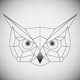 Geometric vector head owl drawn in line or triangle style, suitable for modern tattoo polygonal templates, icons or logo. Elements. Vector illustration vector illustration