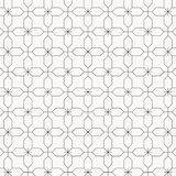 Geometric vector pattern for fictitious embroidery designs, repeating with linear abstract flower. graphic clean for fabric,. Wallpaper, printing. pattern is on vector illustration