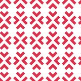 Geometric vector pattern with red arrows. Seamless abstract back vector illustration