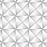 Geometric vector pattern repeating half linear leaves on square and diamond shape. Pattern is on swatches panel Stock Photo