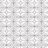 Geometric vector pattern, repeating linear diamond shape with oval shape at center. graphic clean for wallpaper, fabric vector illustration