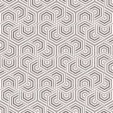 Geometric vector pattern, repeating linear hexagon with thick and thin line in each object. Stock Photos