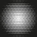 Geometric Vector Pattern With Triangles. Geometric abstract vector background. Pattern with flow effect. Ornament with black, gray and white triangles Royalty Free Stock Photography