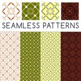 Geometric vector patterns. 4 version of geometric vector patterns Royalty Free Stock Photography