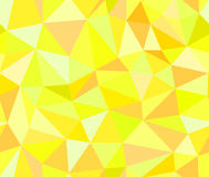 Geometric vector seamless background of yellow triangles Royalty Free Stock Photos