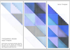 Geometric vector template Royalty Free Stock Photography
