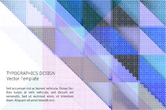 Geometric vector template Royalty Free Stock Photo