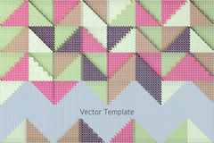 Geometric vector template Royalty Free Stock Images