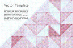 Geometric vector template Stock Photography