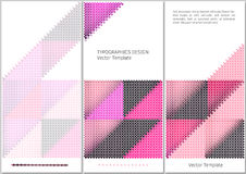 Geometric vector template Stock Image