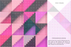Geometric vector template Royalty Free Stock Photos