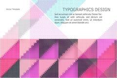 Geometric vector template Stock Photos