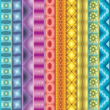 Geometric vector various strips motifs Stock Photo