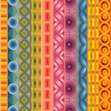Geometric vector various strips motifs Royalty Free Stock Image