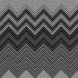 Geometric Vibrating Wave Pattern Stock Image