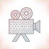 Geometric videocamera. Stock Image