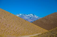 Geometric view on the colorful Andes mountains of Catamarca, Argentina royalty free stock image