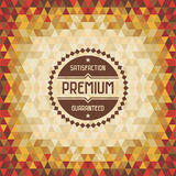 Geometric Vintage Background 04. Vector geometric background for design works Stock Image