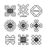 Geometric vintage label minimal design Royalty Free Stock Image