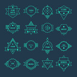 Geometric vintage label Royalty Free Stock Images