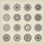 Geometric Vintage Ornaments Set Stock Photography