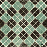 Geometric vintage seamless pattern with aged grunge texture. Stock Photography