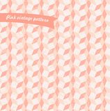 Geometric vintage seamless pattern in pastel pink  Royalty Free Stock Image