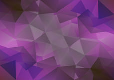 Geometric violet background with triangular polygons. Abstract design. Vector illustration. Stock Photo