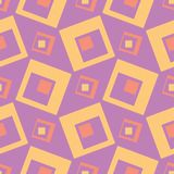 Geometric violet seamless pattern. Bright colored background with pink and yellow elements. For wallpapers, textile and fabrics Royalty Free Stock Images