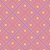 Geometric violet seamless pattern. Bright colored background with pink and yellow elements. For wallpapers, textile and fabrics Stock Image