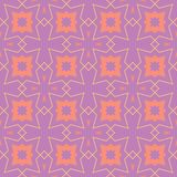 Geometric violet seamless pattern. Bright colored background with pink and yellow elements. For wallpapers, textile and fabrics Stock Images