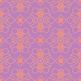 Geometric violet seamless pattern. Bright colored background with pink and yellow elements. For wallpapers, textile and fabrics Royalty Free Stock Photos