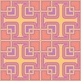 Geometric violet seamless pattern. Bright colored background with pink and yellow elements. For wallpapers, textile and fabrics Royalty Free Stock Photo